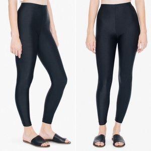 American Apparel nylon shine leggings
